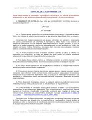 Lei n 6368 - Tráfico ilícito e uso indevido de substâncias intorpecentes.doc