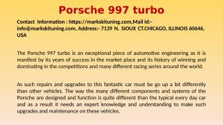 Expert Porsche 997 Turbo Clutch Replacement, Gearbox Removal and Installation.pptx