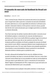 O tamanho do mercado de biodiesel do Brasil até 2020.pdf