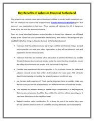 Key Benefits of Asbestos Removal Sutherland .doc