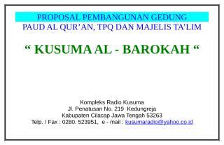 proposal pembangunan gedung tpq.doc