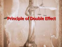 principle of double effect 1 anscombe, aquinas, and the principle of double effect introduction although the principle of double effect is widely used as a tool to solve difficult moral problems, it is indisputable that its use has led to a very great deal of controversy as to its proper formulation, its scope of use, and even the conclusions which may be drawn from it.
