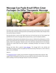 Massage Sao Paulo Brazil Offers Great Packages On Differ Therapeutic Massage.pdf